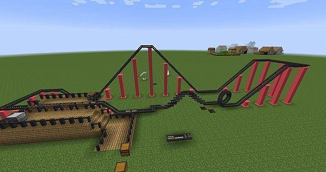Rollercoaster Mod 1.7.10 Captura de pantalla